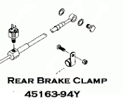 45163-94Y - Rear Brake Control Line Clamp [S2T]