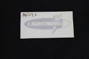 DECAL, WINDSCREEN, SILVER/WHIT-M0739.K